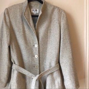 Vintage Bill Blass Light Grey Tie Waist Coat R